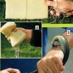 Czyste ręce podczas łowienia ryb